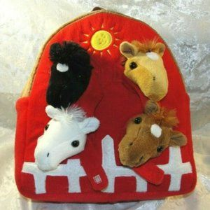 Backpack Toddler Preschool Horse Stable Unipak